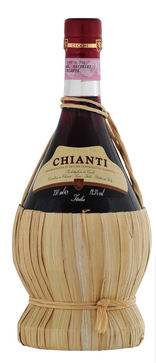Cecci Chainti in Straw Flask