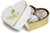 Charbonnel Walker Milk Champagne Truffles White Heart Box 34g 3Pc