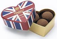 Charbonnel Walker Union Jack Heart Box 34g 3Pc