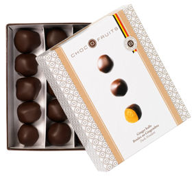 Chocofruits Candied Orange Slices in Dark Chocolate 200g