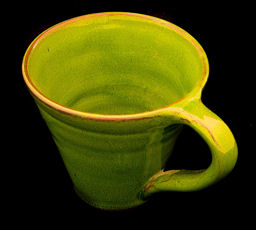 Collectively Artisan Mug in Lime Green