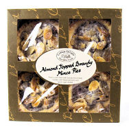 Cottage Delight Almond Topped Brandy Mince Pies 4pc