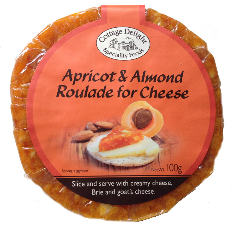 Cottage Delight Apricot & Almond Roularde for Cheese 100g