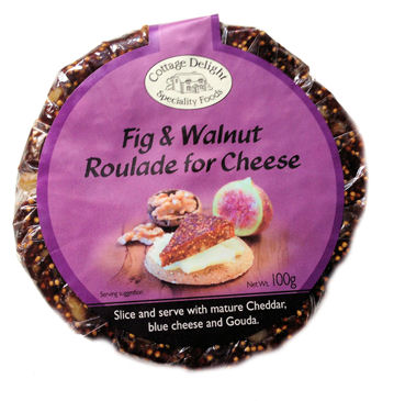 Cottage Delight Fig & Walnut Roularde for Cheese 100g