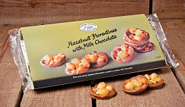 Cottage Delight Florentines Hazelnut Milk Chocolate