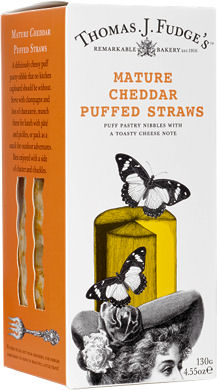 Fudges Mature Cheddar Puffed Straws 100G