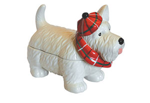 Grandma Wilds Scottie Dog in Ceramic Biscuit Barrel
