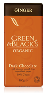Green & Blacks Dark Chocolate With Ginger 100g