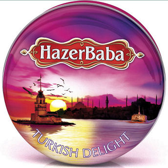Hazer Baba Rose Turkish Delight Tin