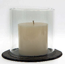 Just Slate Pillar Candle 10cm