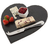 Just Slate Heart Cheeseboard 30cm