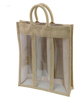 Jute Presentation Bag 3 Bottle
