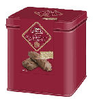 Lambertz Lebkuchen Festive Tin - Lebkuchen with Milk Chocolate & Almonds 120g