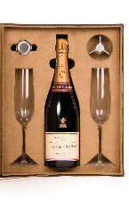 Laurent Perrier Champagne Giftbox and Flutes
