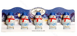 Lindt Milk Chocolate Snowmen 5pc