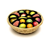 Shepcote Marzipan Fruits in Basket 200g 18pc