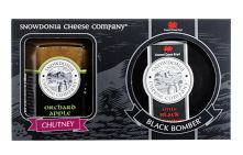 Snowdonia Black Bomber Cheddar Giftbox with Chutney