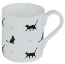 Sophie Allport Mug - Black Cat & Bone