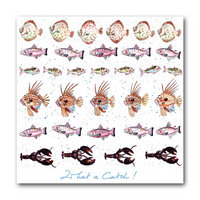 Sophie Allport Greeting Card - What A Catch! Fishes