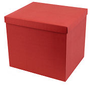 Large Hamper Box in Red