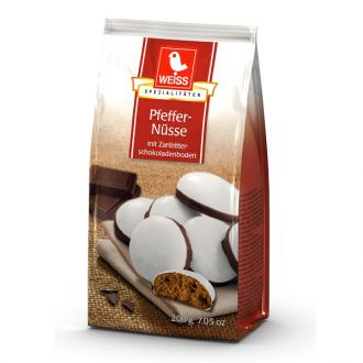 Weiss Pfeffernusse Chocolate Dipped 200g