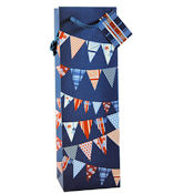 1 Bottle Wine Bag Seaside Bunting