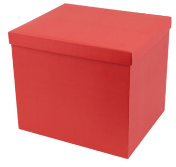 Large Hamper Box in Red (image 1)