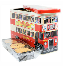 Walkers London Bus Tin of Assorted Biscuits 600g