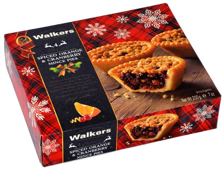 Walkers Spiced Orange Cranberry Mince Pies