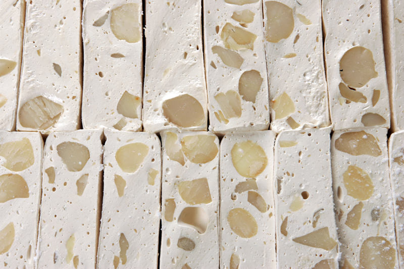 Great slabs of Walters Almond Nougat!