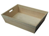 Large Wooden Open Tray